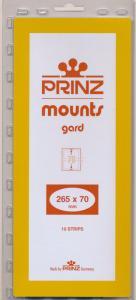 Prinz Scott Stamp Mount 70/265 BLACK Background Pack of 10