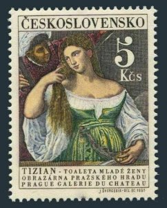 Czechoslovakia 1336a stamp,MNH.Michel 1560. Hradchany Art Gallery,1965.Titian.