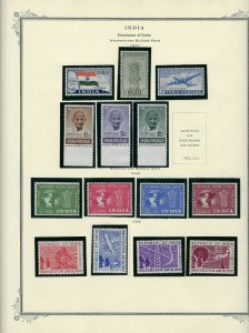 INDIA ALMOST COMPLETE 1947-1991 MOUNTED ON SCOTT SPECIALTY PAGES- 90% NH.