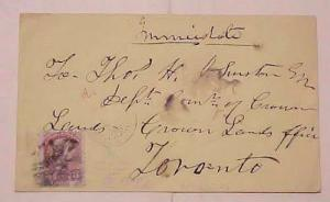 CANADA COVER #64 CAT.$182.00  KINGSTON 1870