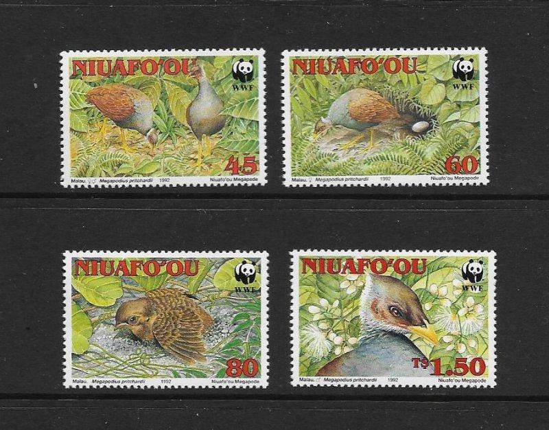 BIRDS - NIUAFOOU #152-5  WWF  MNH