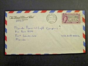 Bahamas 1959 8d QEII Series on Hotel Cover to USA - Z4337