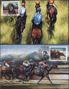 Yugoslavia. 1996. Ljubicevo Equestrian Games (Mint) Set of 2 Maxi Cards