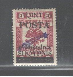 ALBANIA 1919  #100, OVERPRINT,  MH