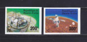 Burkina Faso C238-C239 Imperf Set MNH Space (A)