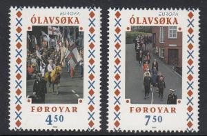 Faroes 336-7 Europa mnh