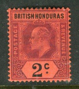 BRITISH HONDURAS; 1904 early Ed VII issue fine Mint hinged Shade of 2c. value