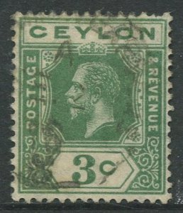 STAMP STATION PERTH Ceylon #202 KGV Definitive  Wmk 3  Used 1912-25