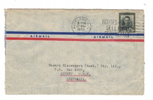 New Zealand 1949 Commercial Cover to Australia