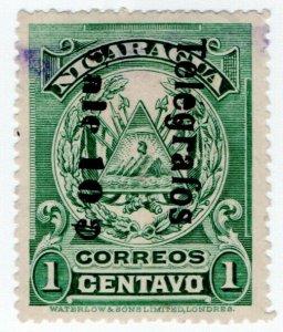 (I.B) Nicaragua Telegraphs : 10c on 1c Overprint