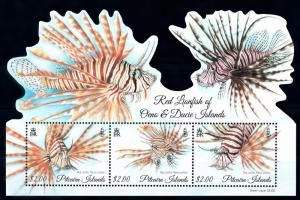 [66844] Pitcairn Islands 2015 Marine Life Fish Souvenir Sheet MNH