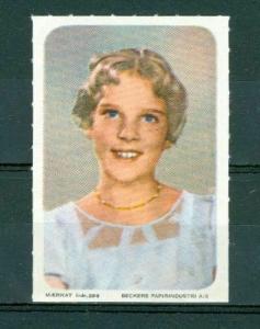 Denmark. Poster Stamp. Mnh 1950es.  Royal  Princess Anne Marie