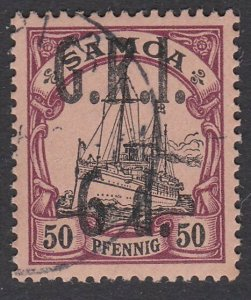SAMOA 1914 GRI opt on German Samoa : 6d on 50ph fine used...................C462