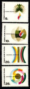 Papua New Guinea MNH 261-4 Human Rights Year 1968
