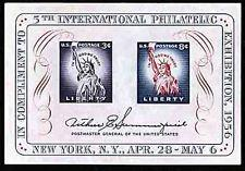 SCOTT # 1075 ONE SOUVENIR SHEET MNH  5 TH INTERNATIONAL PHILATELIC  NICE !!1956