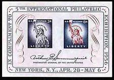 SCOTT # 1075 ONE SOUVENIR SHEET MNH  5 TH INTERNATIONAL PHILATELIC  NICE !!1956