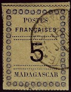 Madagascar SC#8 Used VF hr SCV$40.00..Worth a close look!!