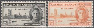 Cayman Is #112-3   F-VF Unused  (S6366)