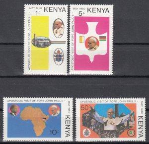 Kenya, Sc 167-170, MNH, 1980, Pope's Visit