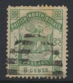 North Borneo  SG 27 Green  Used perf 14 please see scans & details