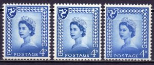 Isle Of Man. 1966-68. 3-4. Queen. MNH.