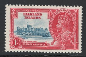 Falkland Islands 1935 Silver Jubilee 1p Scott # 77 MH