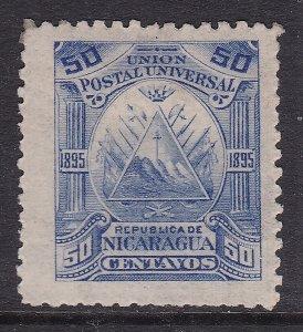 NICARAGUA ^^^^^1895  RARER  sc#70 mint   CLASSIC $50.00@@dc531nica