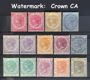 Malaya Straits Settlements 1882-91 QV SG#52&53 63-71 Crown CA Mint CV£482 M1879