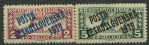 Czechoslovakia #B34-B35 Overprint MVLH  Scott CV. $62.00