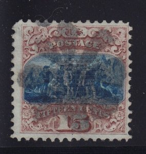 118 F-VF used neat cancel with nice color cv $ 800 ! see pic !