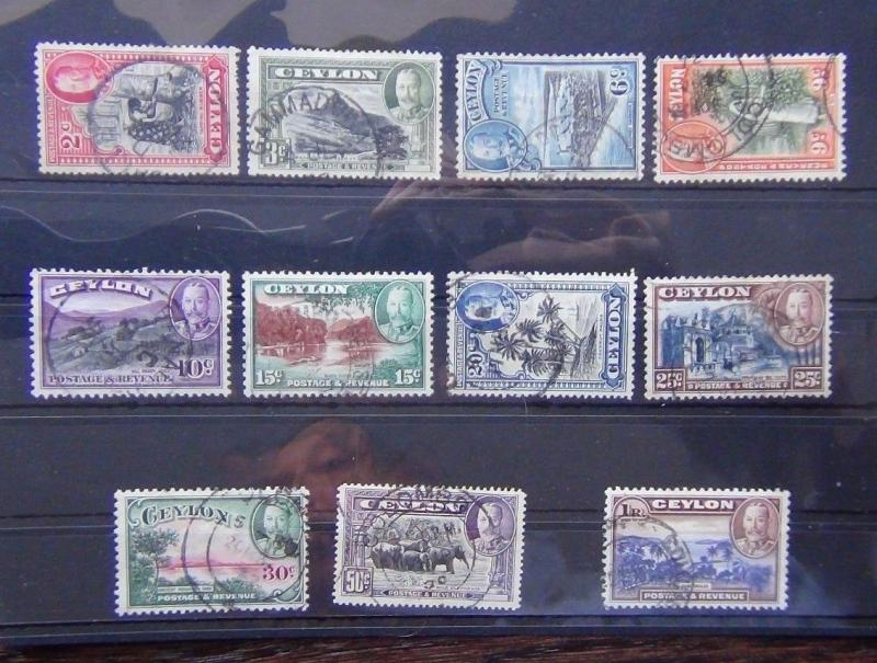 Ceylon 1935-36 set complete to R1 Used