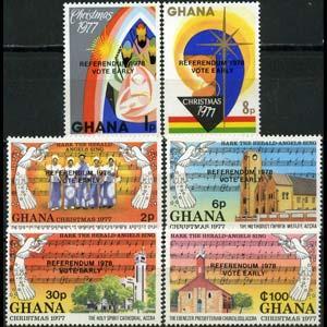 GHANA 1978 - Scott# 638-43 Vote Opt. Set of 6 LH