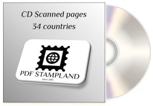 CD Stamp color pages, 34 countries