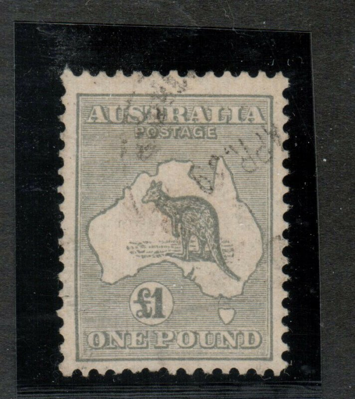 Australia #128 Used Fine With Light CDS Cancel - Tiny Hidden Tear In Left Margin
