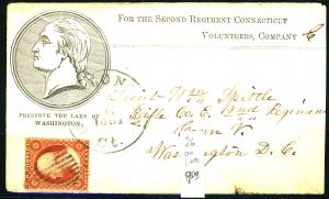 U.S. #26 Used On Cover