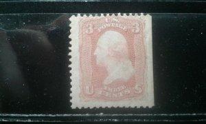 US #65 mint hinged toned gum e197.4628