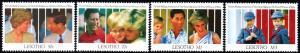 Lesotho - 1991 Wedding Anniv of Prince and Princess of Wales Set&MS SG 1041-1045