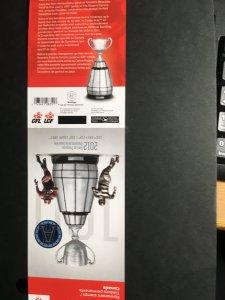 Canada USC #2598ai (#BK516a) Cat. C$40. 2012 Grey Cup Game Winner Unfolded Bklt.