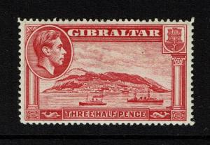 Gibraltar SG# 123, Mint Hinged, small Hinge Remnant - Lot 052117