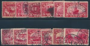 #Q1-Q12 F-VF USED COMPLETE SET OF 12 OF US PARCEL POST CV $207.65 BR7726