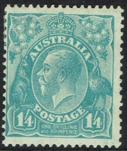 AUSTRALIA 1926 KGV 1/4 SMALL MULTI WMK PERF 13.5 X 12.5