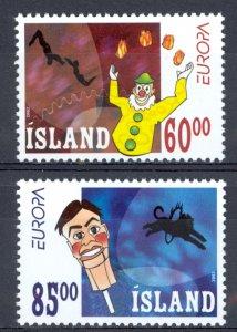 Iceland Sc# 966-967 MNH 2002 Europa