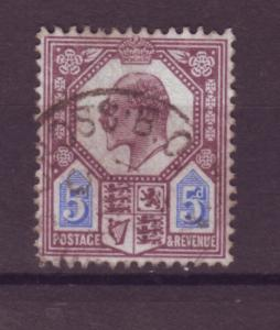 J17657 JLstamps 1902-11 great britain used #134 KEVII