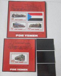 Yemen 1983 Sc 305-6 Train MNH
