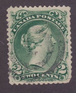 Canada 24 Used 1868 2c Green Queen Victoria F-VF Scv $100.00