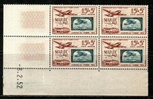 French Morocco Scott CB42 Mint NH block (Catalog Value $19.00)