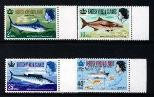 VIRGIN ISLANDS QE II 1968 Complete Game Fishing Set SG 220 to SG 223 MNH