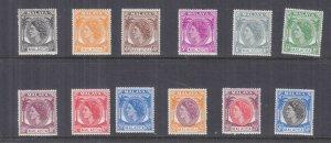 MALACCA, MALAYSIA, 1954-1955 QE selection to 50c., lhm. (12)