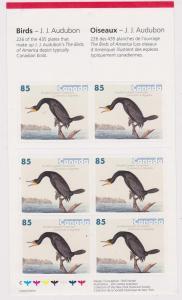 Canada - 2005 85c Audubon Cormorant Complete Booklet #BK310
