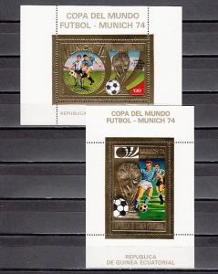 Eq. Guinea, MI cat. 407-408, BL120-121 A. Soccer s/sheets, winners o/printed.